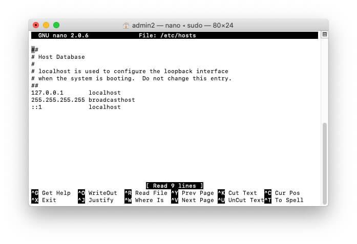 Remove or Unlock Website On Mac Using Terminal