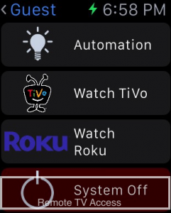 How to control TV using Apple watch remotely