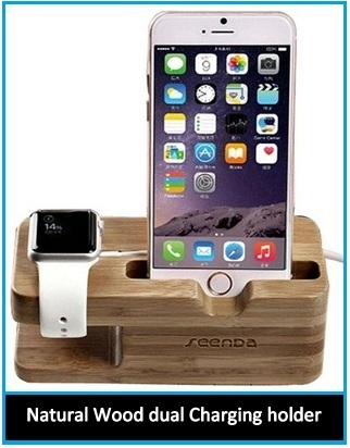 Top Best wooden Apple Watch and iPhone charging station
