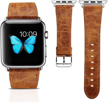 Vintage leather Wrist band for Apple Watch