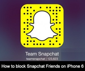 How to delete or block Snapchat Friends on iPhone 6, 6 Plus – iOS 8