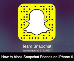 how to block offending user on Snapchat