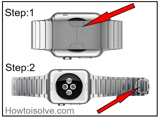 Remove Link bracelet on Apple Watch 2 and Apple Watch 1