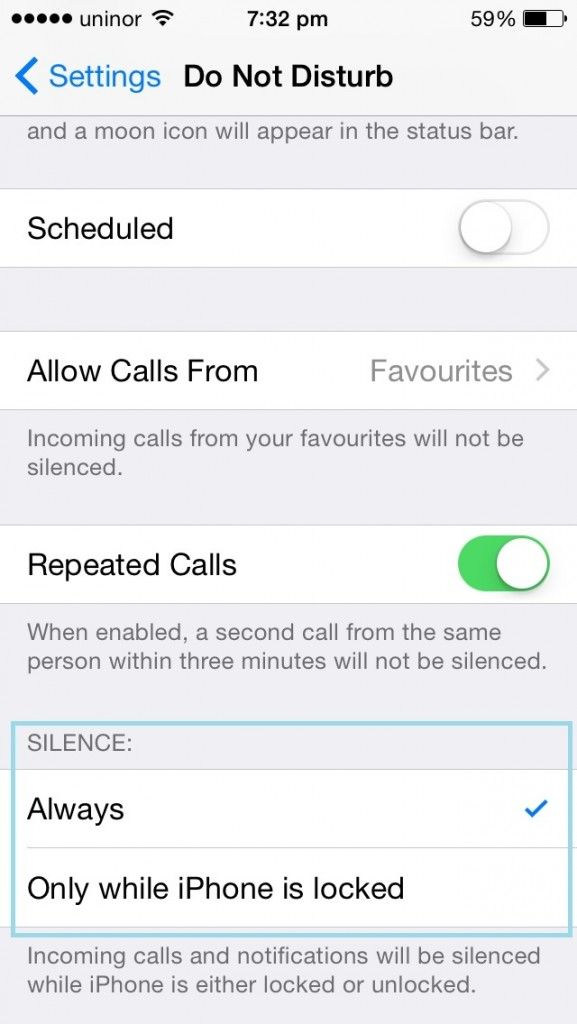 Setup do not disturb time schedule on iPhone and iPad