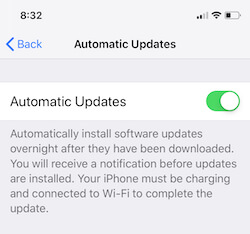 1 Software Update in iOS 12