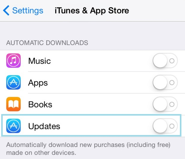 Enable auto update apps in iPhone, iPad and iPod touch