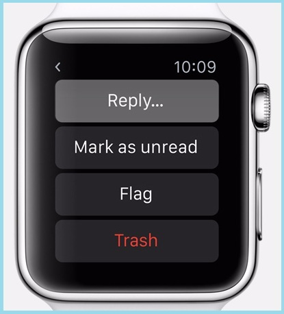 Apple watch OS 2 features for Mail app