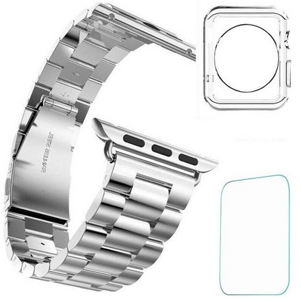 Steel metal apple watch band in best layered