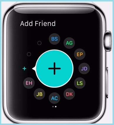 Add contact directly to watch screen