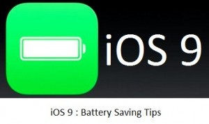 How to save iOS 9 Battery on iPhone, iPad: improve battery life