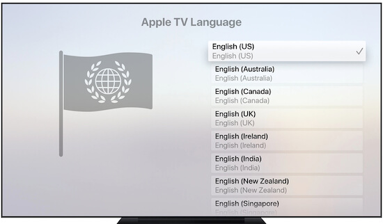 Change Apple TV Language
