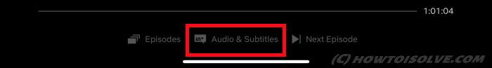 Disable Subtitles of Netflix app on iPad, iPhone