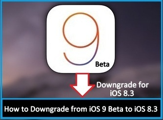 How to Downgrade from iOS 9 Beta to iOS 8.3 on iPhone, iPad