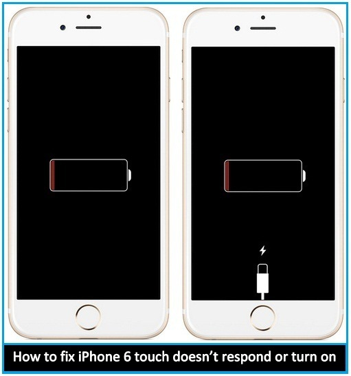 Alternate Steps to fix iPhone 6 touch doesn't respond or turn on: 6 Plus