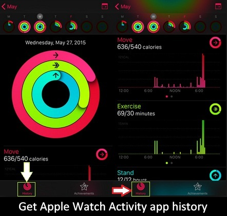 How to get or see Apple Watch Activity app history on iPhone