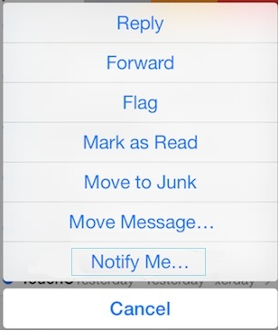 Get notification on new mail reply