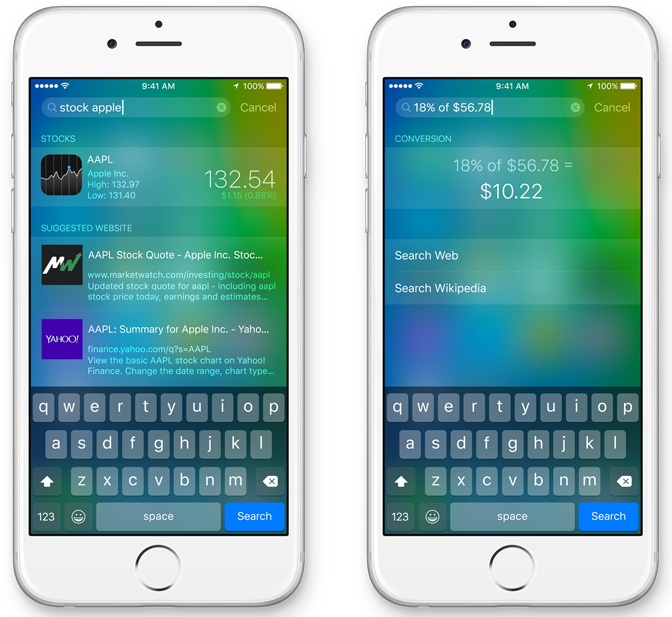 Improved siri features in iOS 9