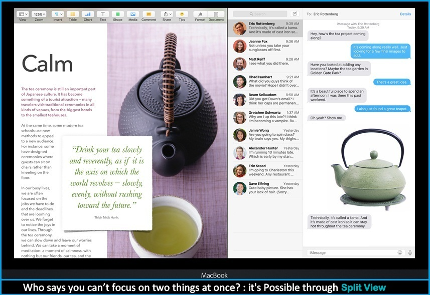 Exclusive Features of OS X EI Capitan: Split View