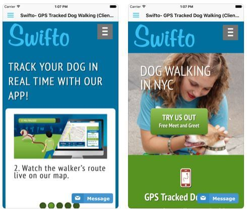 Swifto App for Dog Walker and Sitter