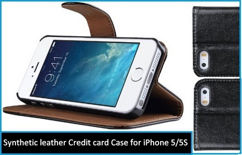 Ulak leather Credit card Case for iPhone 5 and iPhone 5S