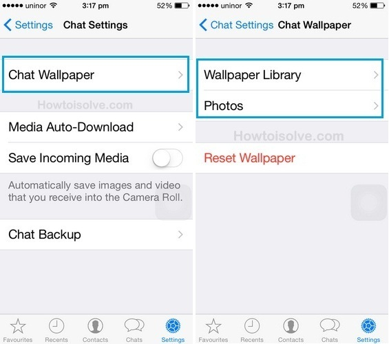 how to change custom wallpaper for whatsapp on iphone 6, iPhone 6 Plus