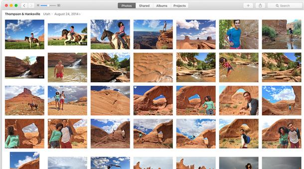 Mac OS X EI Capitan features:  Photos