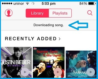 See all downloading progress songs