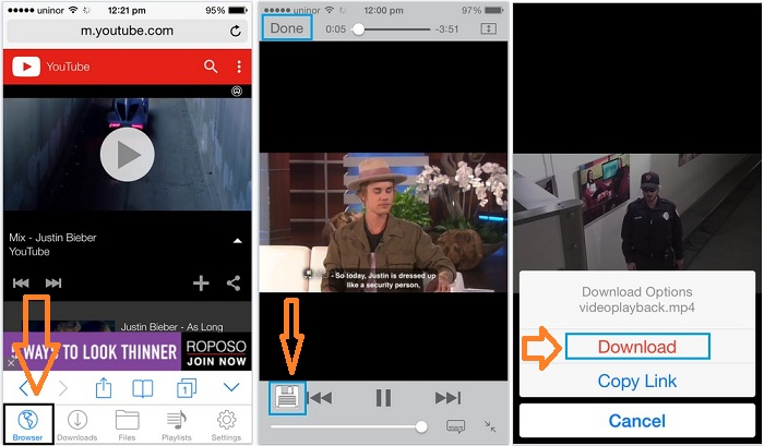 Download YouTube video in free on iPhone, iPad and iPod touch
