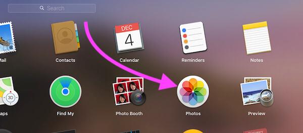 Open Photos app on Mac to make Card