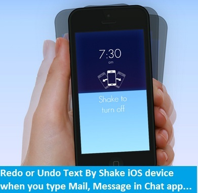 Redo or undo message text in iOS app: iPhone, iPad and iPod touch