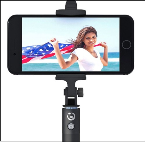 3 Cyclone Bluetooth iPhone Selfie Stick