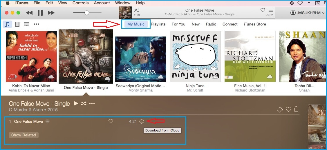 Download Song From iTunes in Mac OS X Yosemite