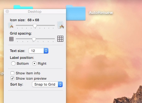 Change Folder size by very slider