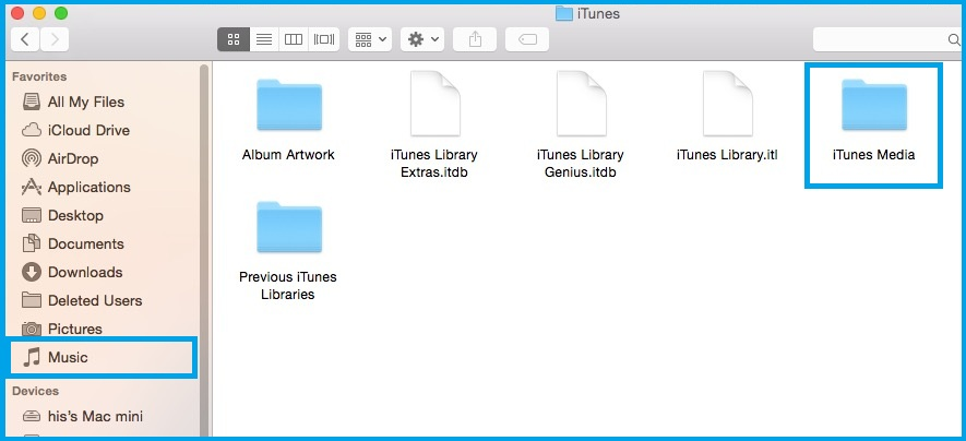 Find Downloaded music folder location on Mac OS X