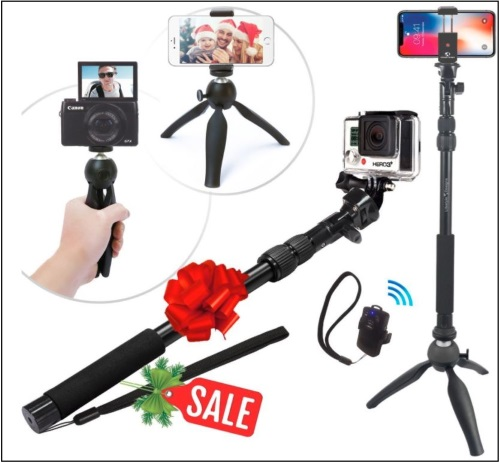 4 Holiday Premium Selfie Stick for iPhone