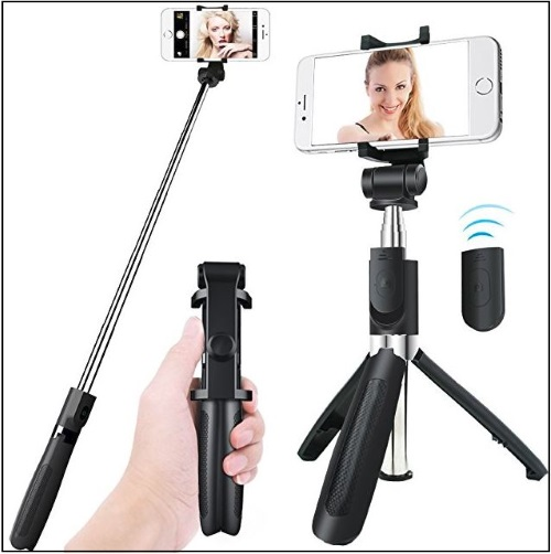 5 Apphome Bluetooth Selfie Stick for iPhone X iPhone 8 - 7- 6