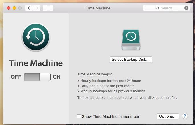 Turn start Backup in External Drive