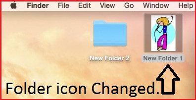 See change folder icon by set picture