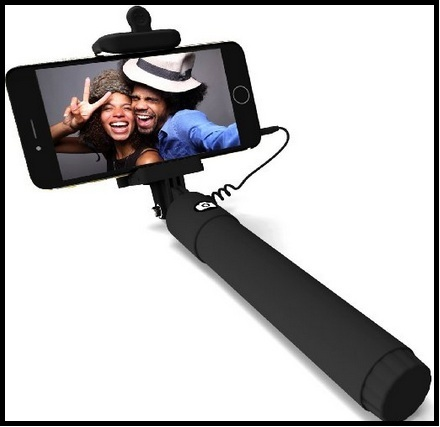 Selfie stick for iPhone and Camera
