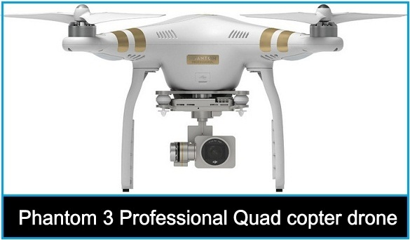 Dji Phantom 3 Professional Quad copter drone with 4k UHD video Camera