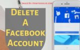 How to Delete A Facebook Account on mobile iPhone iPad Android mac Computer PC