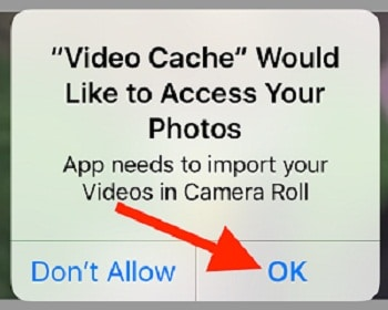 Allow permission to save video in Photos app or Camera roll
