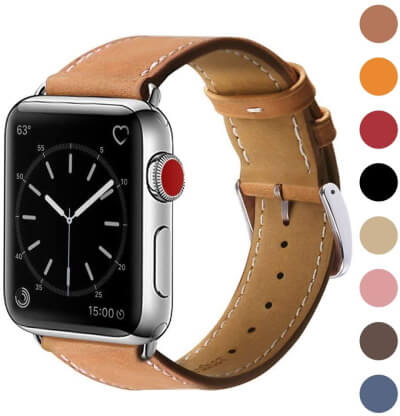 Marge Plus Leather Band for Apple Watch