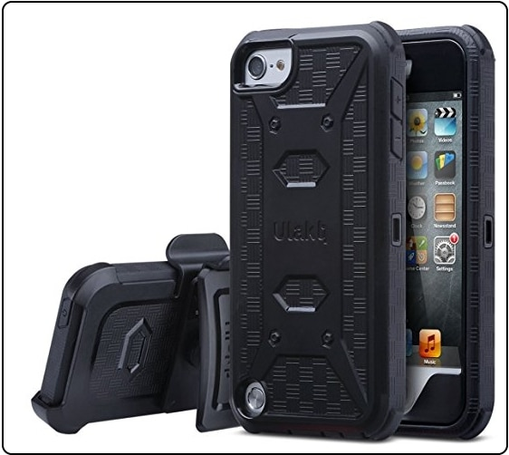 ULAK iPod touch 6 case Belt Clip Holster