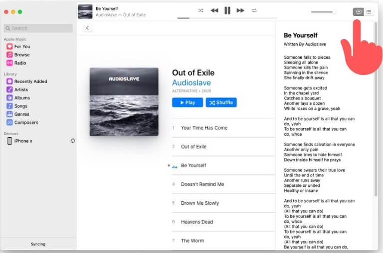 View Lyrics on music app on macOS Catalina