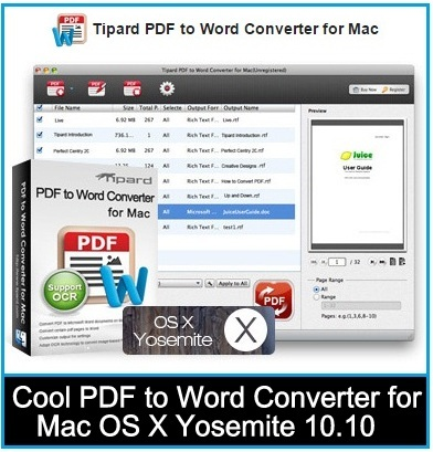 Best PDF to Word converter for Mac 2015: OS X Yosemite supports