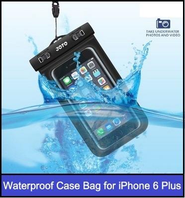 Waterproof case bag for iphone 6 plus