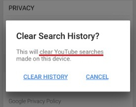 How to clear or delete youtube search history on iphone how to clear watched youtube video history on iphone ipad app while signed out device ccuart Choice Image