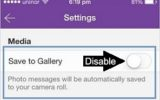 how to Auto download Photos of Viber messages on iPhone , iPad, iPod