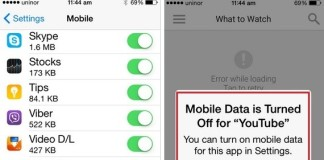how to stop apps using mobile data on iPhone 6, 6 plus: iOS 8